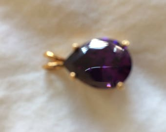 Vintage pendant, synthetic amethyst