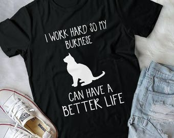 Burmese Tshirt, Burmese Lover, Cat Dad, Cat Dad T-Shirt, Father'S Day, Gifts For Cat Lover, Cat Gifts For Him, Cat Gifts For Women