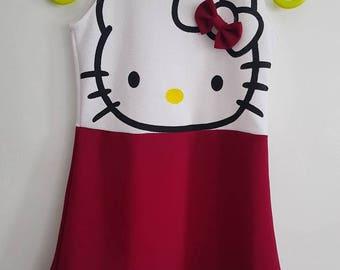 Cute Hello Kitty Dress for Girls