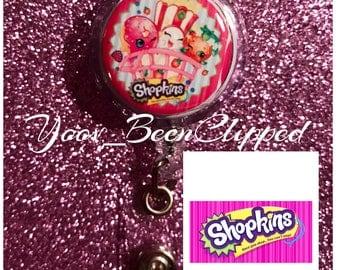 Shopkins Retractable Badge Holder