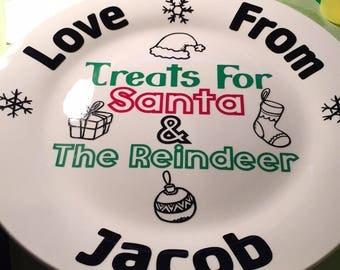 Santa treat plate
