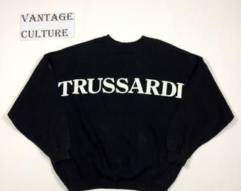 90s TRUSSARDI tops sweatshirt