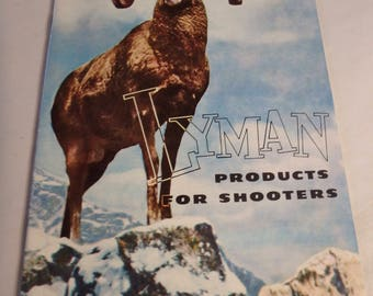 LYMAN products for shooters catalog- 23 pages from the 1950's