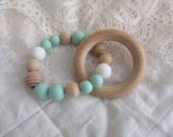 Mint wooden teether