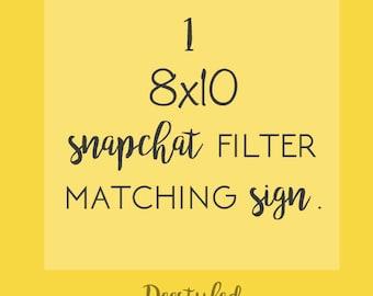 Snapchat filter sign