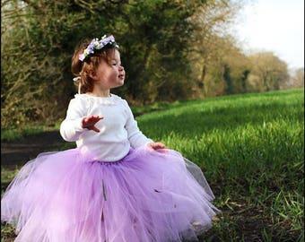 Floor length tutu, birthday tutu, cake smash, flower girl skirt