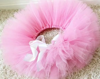 Pink princess tutu, birthday tutu, cake smash, flower girl skirt