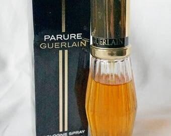 Parure Guerlain 45 ml vintage cologne spray bottle in box