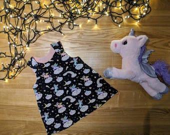 Reversible // 100% Cotton // Baby Girls Dress //