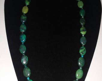 Chrysacolla necklace