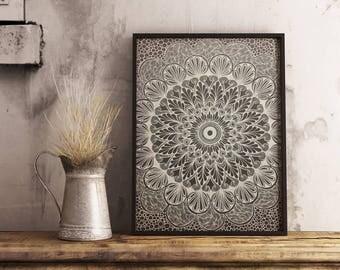 Handmade Mandala art painting