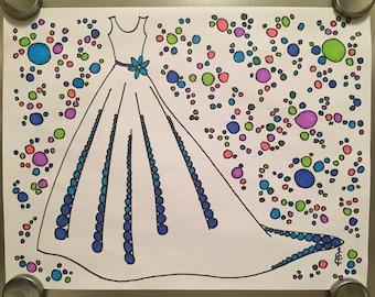 A-Line Wedding Dress / Savings Tracker / Debt Payoff Tracker / Fitness Tracker / Goal Coloring Sheet