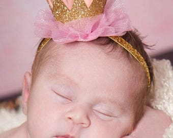 Baby Crown, Baby Headband, Princess Crown, Birthday Crown, Baby Headbands, Baby Girl Headband, Baby Shower Gift, Infant Headband