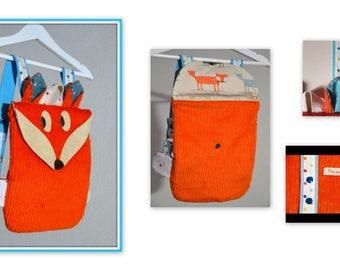 Backpack Fox for kindergarten or before
