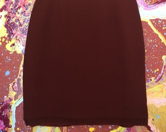 Vintgae maroon pencil skirt