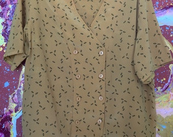 Vintage double breasted printed shirt
