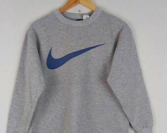 Vintage Nike Tennis Big Swoosh Logo Sweatshirt Nice Design