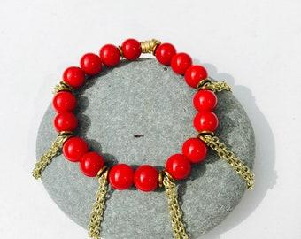 Beaded bracelet, stretch bracelet, layering bracelet, gemstone, boho chic bracelet, bead bracelet, jewerly, gifts for her, charm bracelet