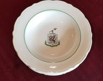 Set of 5 Syracuse China Bowls with Crest