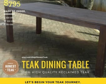 Darkened Teak Dining Table