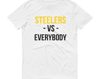 Pittsburgh Steelers Football Vs. Everybody Short-Sleeve T-Shirt