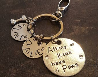 All my kids have paws keyring