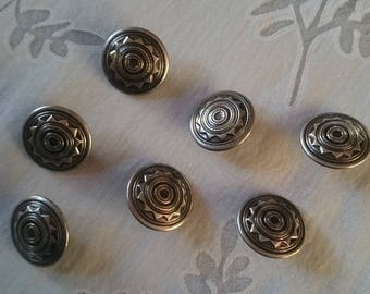 Silver - set of 7 buttons