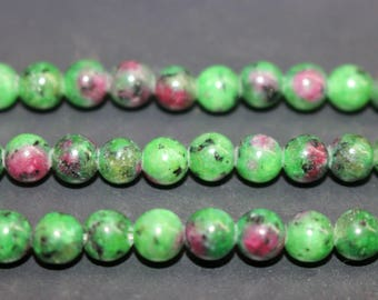 15 Inches Full strand,Ruby Zoisite Smooth round beads 6mm 8mm 10mm 12mm ,loose beads,semi-precious stone