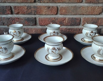 Set of 6 cups Napoleon III. Nineteenth century
