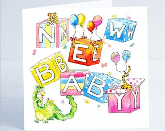 New Baby Gender Neutral Greeting Card