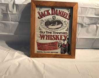 Framed Tin Sign - Jack Daniels Sippin Whiskey
