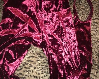 Crushed velvet leggings size medium