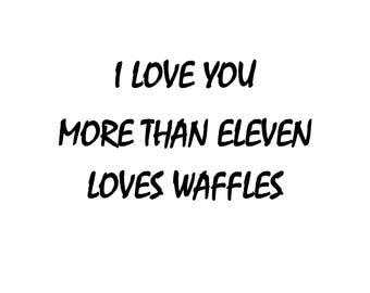 Valentines Day Gift for Her Valentines Day Gift for Him Gift for Boyfriend Stranger Things Poster Eleven Netflix Gift Stranger Things PDF