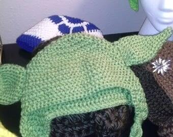 Custom Crochet Yoda Hat