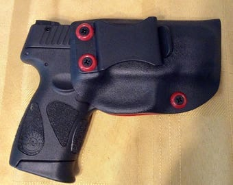 TAURUS PT111 Gen 2 9mm kydex holster IWB, red and black adjustable cant FREE shipping!