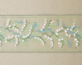 Lily of the Valley Jacquard Trim-2 and 1/2 inches-Trim #3