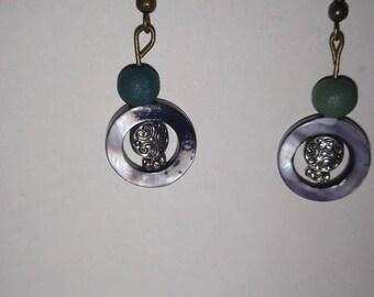 Hematite Circle Ring Earrings