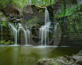 Akron Falls | Landscape Photo Art | Nature Lover Gift | Fine Art Photography | Personalization | BDPhotoShoppe | Home Office Decor