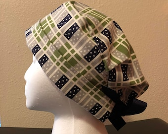 Scrub Hat - Navy and Blue