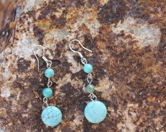 Dangle Turquoise Earrings