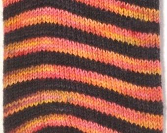 "Duchess of Dyepots Rani Stripe Sock ""Sunset Beach"""