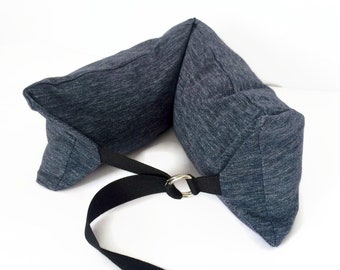 "Neck support pillow Buckwheat  pillow Neck roll gift Traveler pillow Long cushion 24"" x 7""/ 60 x 18cm Hypoallergenic pillow Relax cushion"
