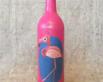 Flamingo Wine Bottle