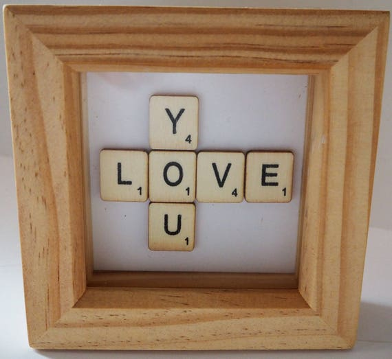 Valentine day gift box framed picturelovescrabble like this item negle Choice Image