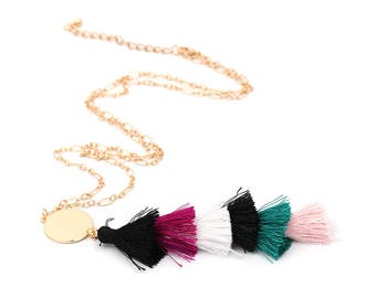 Multi Colored tassel Necklace
