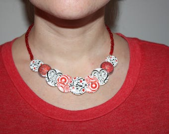 Valentine Necklace - Funny Valentine Gift for Her - St Valentines Day Gift