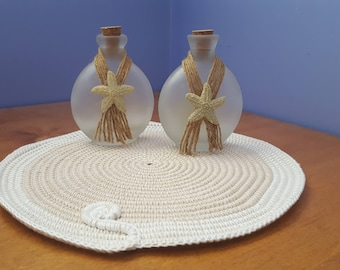 centrepiece, crochet, cotton crochet rope, rope