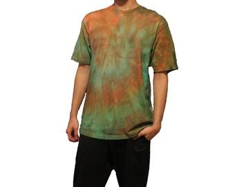 Green/Orange Tie Dye T-shirt