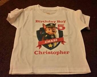 Paw Patrol Custom Birthday Infant/Toddler/Youth Onesie/T-Shirt
