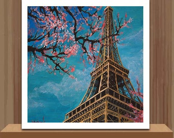 5D Diamond Mosaic Diy Diamond Embroidery Eiffel Tower Square Paste Full Cross Stitch Kit Diy Diamond Painting